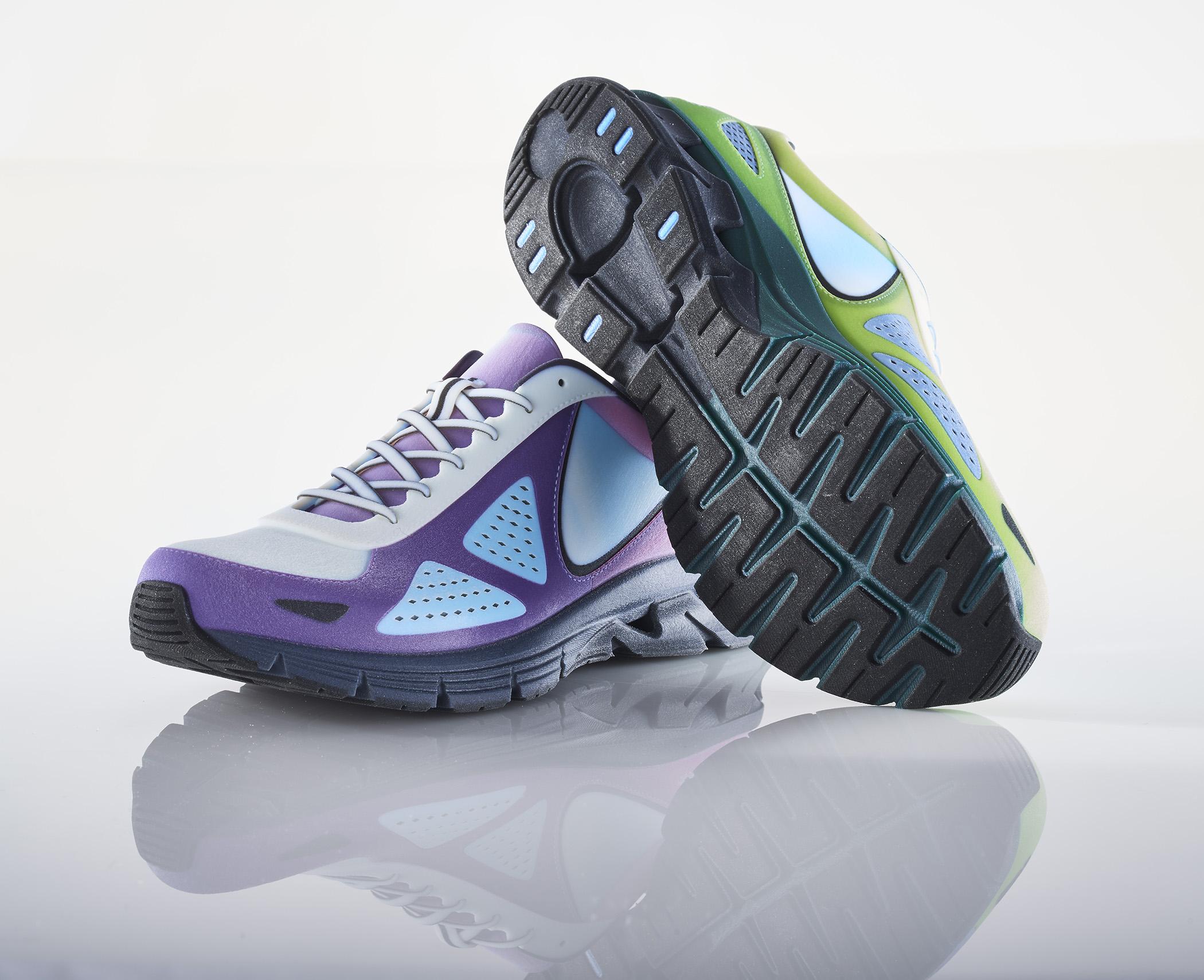 J750 3D Printed Tennis Shoes - Purple Platypus